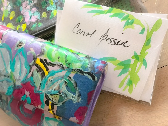 Carol's artwork bags
